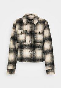 ONLLOU SHORT CHECK JACKET - Summer jacket - pumice stone/black