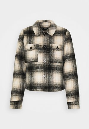 ONLLOU CHECK JACKET - Summer jacket - pumice stone/black