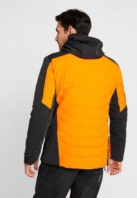 Kjus - MEN SIGHT LINE JACKET - Ski jacket - black/orange - 2