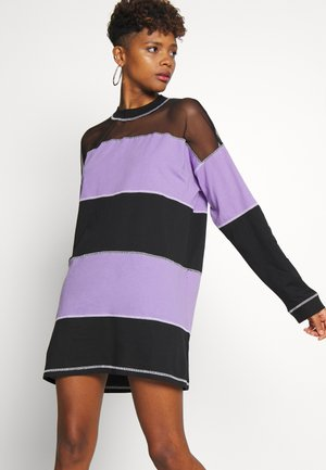 SKATER DRESS - Jersey dress - black/purple