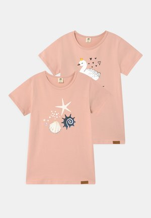 SWAN AND SHELLS 2 PACK - T-shirt print - pink