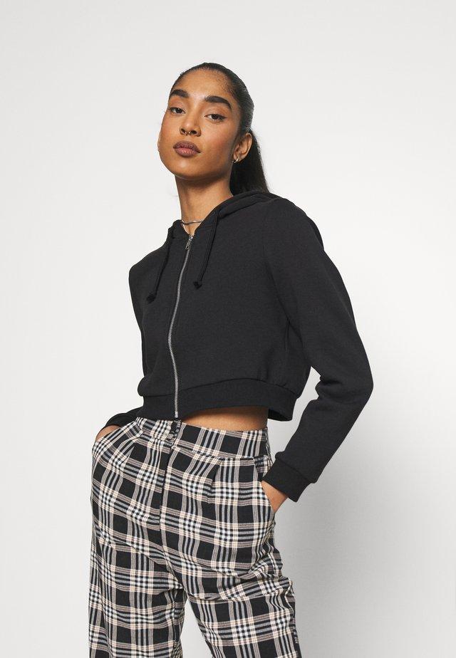 JOANNA HOODIE - veste en sweat zippée - black