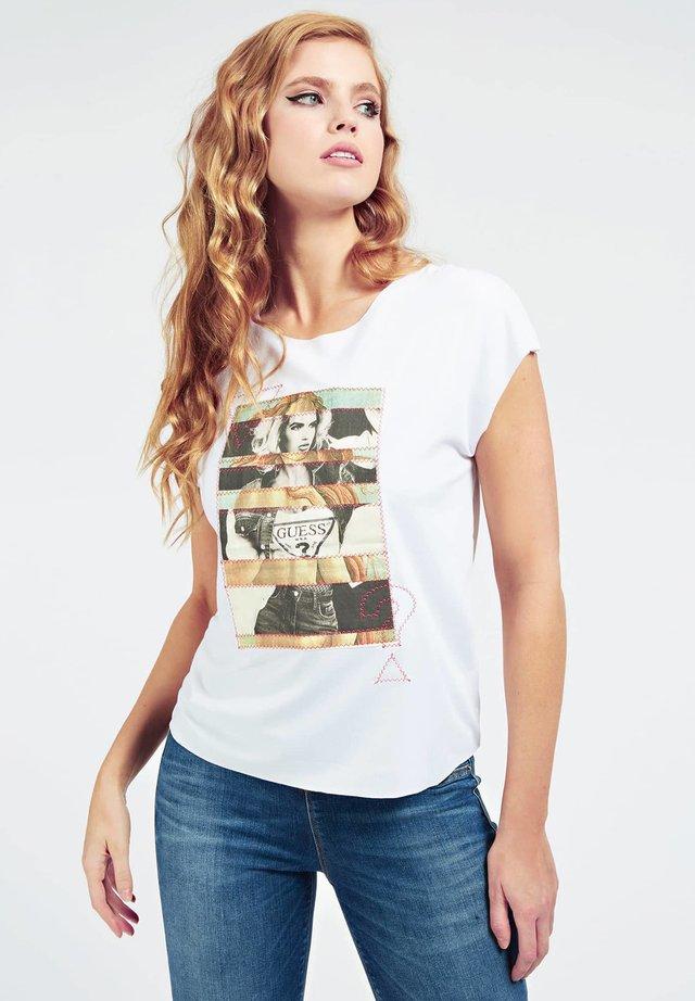 T-shirt imprimé - wit