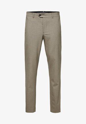 SLIM FIT - Spodnie materiałowe - sand