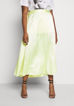 VMCHRISTAS LONG SKIRT - Maxi skirt - sunny lime