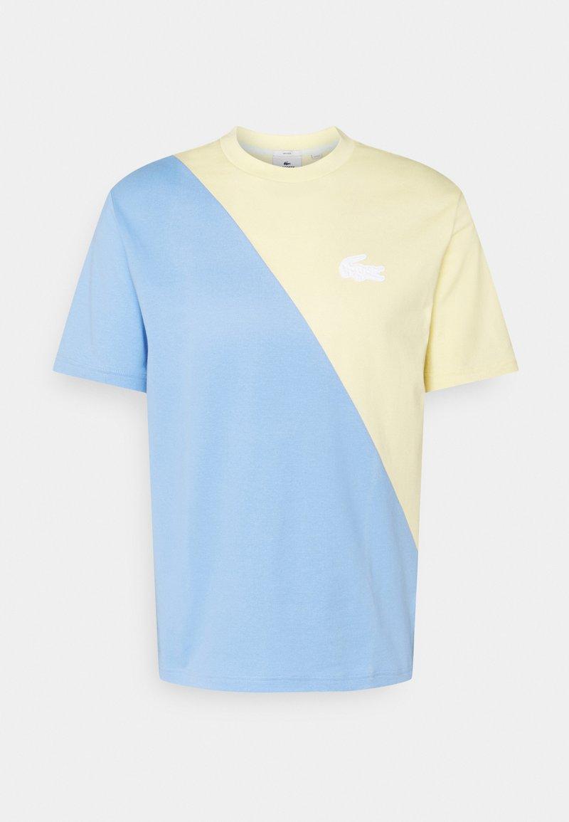 Lacoste LIVE - UNISEX - Print T-shirt - zabaglione/nattier blue