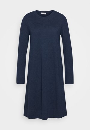 CREW NECK DRESS - Pletené šaty - dark blue