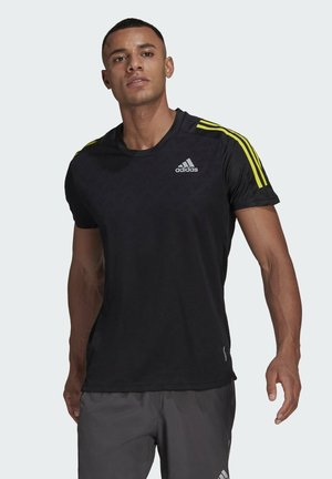 OWN THE TEE RESPONSE AEROREADY PRIMEGREEN RUNNING REGULAR T-SHIRT - T-shirt print - black