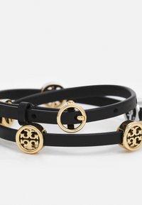 Tory Burch - MILLER DOUBLE WRAP BRACELET - Bracelet - gold-coloured/black - 1