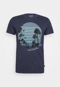 Q/S designed by - KURZARM - Print T-shirt - saphire blue - 4