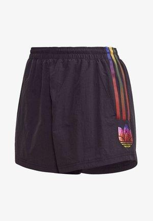 PAOLINA RUSSO ADICOLOR 3D TREFOIL SHORTS - Shorts - black