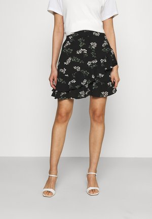 VMSAGA FRILL SKIRT  - Mini skirt - black