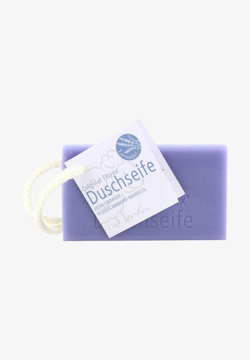 Florex - DUSCHSEIFE MIT SCHAFMILCH MANDELÖL KORDEL ZUM AUFHÄNGEN 120 G  - Bubble bath & soak - -