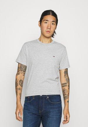 C NECK TEE - T-paita - light grey heather