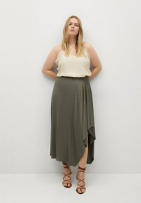 Violeta by Mango - ELSA - A-line skirt - khaki - 1