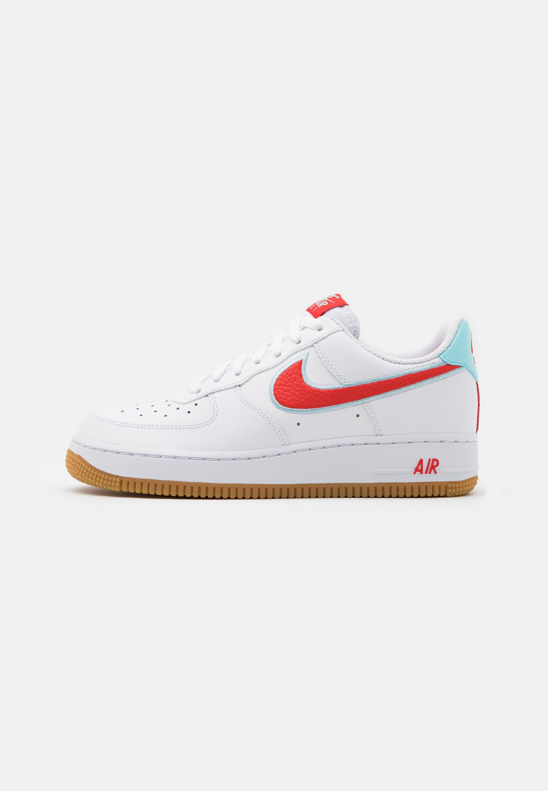 Actual Saltar Humano  Nike Sportswear AIR FORCE 1 '07 LV8 UNISEX - Trainers - white/chile  red/glacier ice/light brown/white - Zalando.ie