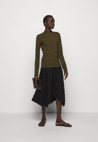 Proenza Schouler White Label - FRINGE FIL COUPE SKIRT - A-line skirt - black - 1