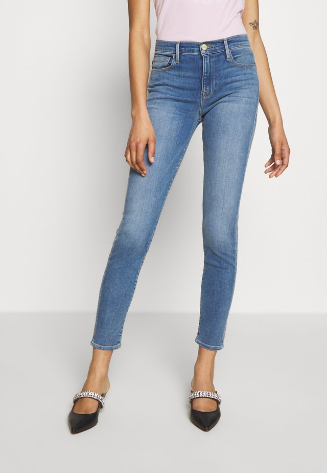 LE SKINNY DE JEANNE SANDED SEAM - Jeansy Skinny Fit - blue