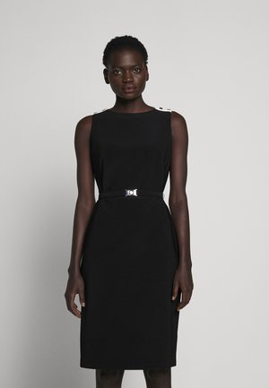 BONDED TONE DRESS - Pouzdrové šaty - black/white