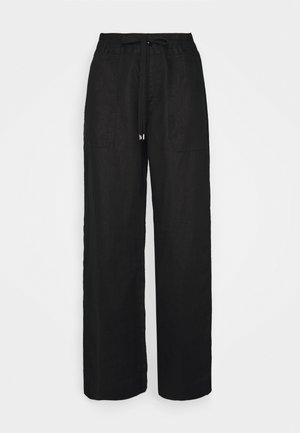 JOVONIE WIDE LEG PANT - Trousers - black