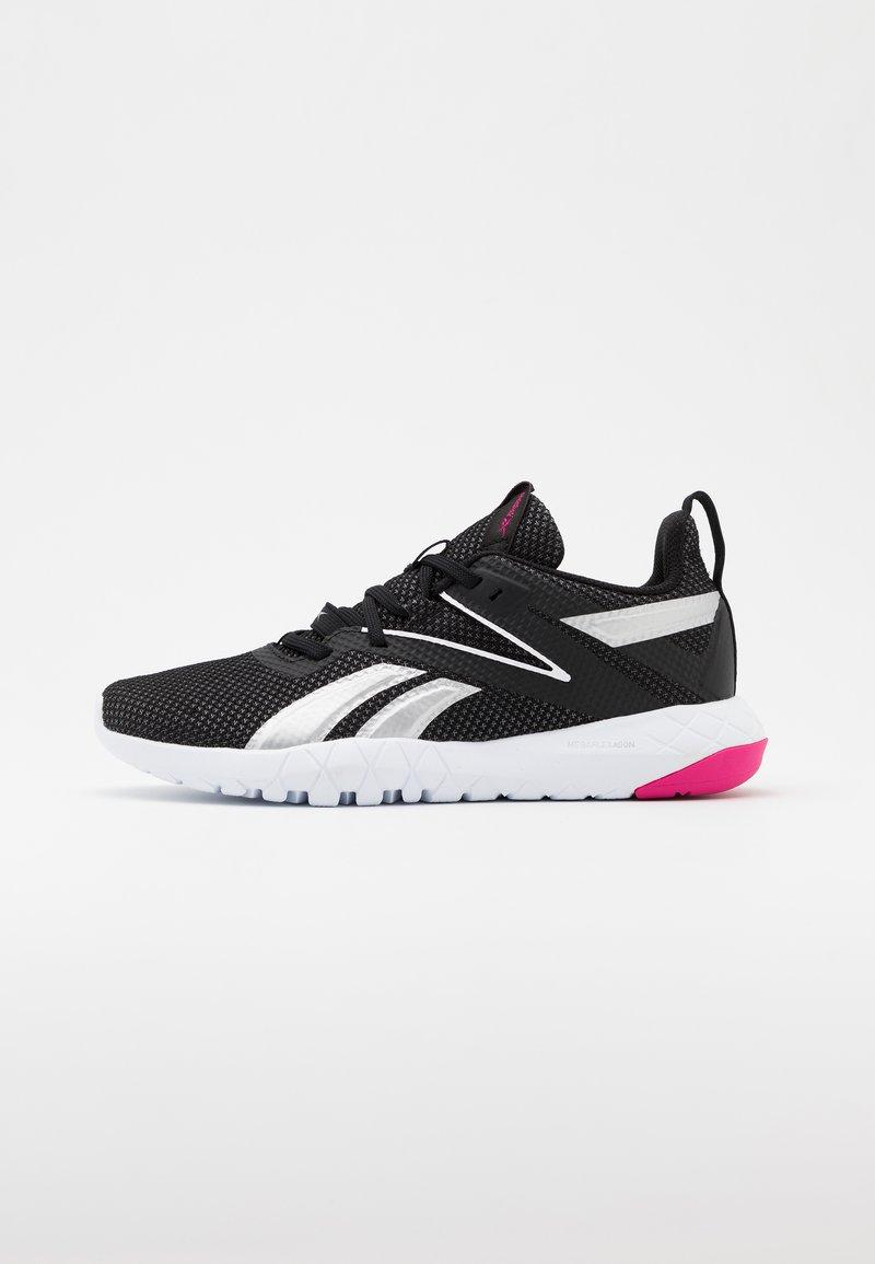 Reebok - MEGA FLEXAGON - Sports shoes - black/white/pink