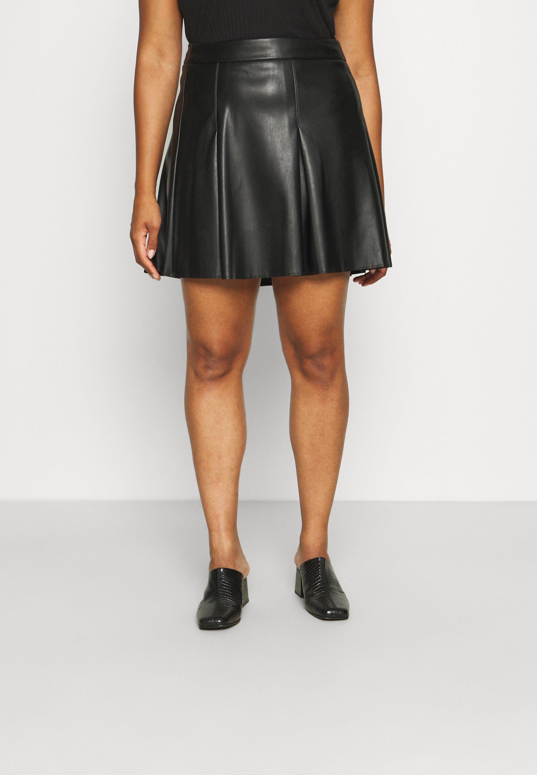 Femme VISYBILLE COATED SKIRT - Minijupe