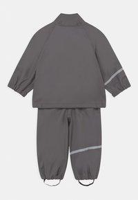 CeLaVi - BASIC RAINWEAR SOLID SET UNISEX - Waterproof jacket - grey - 2