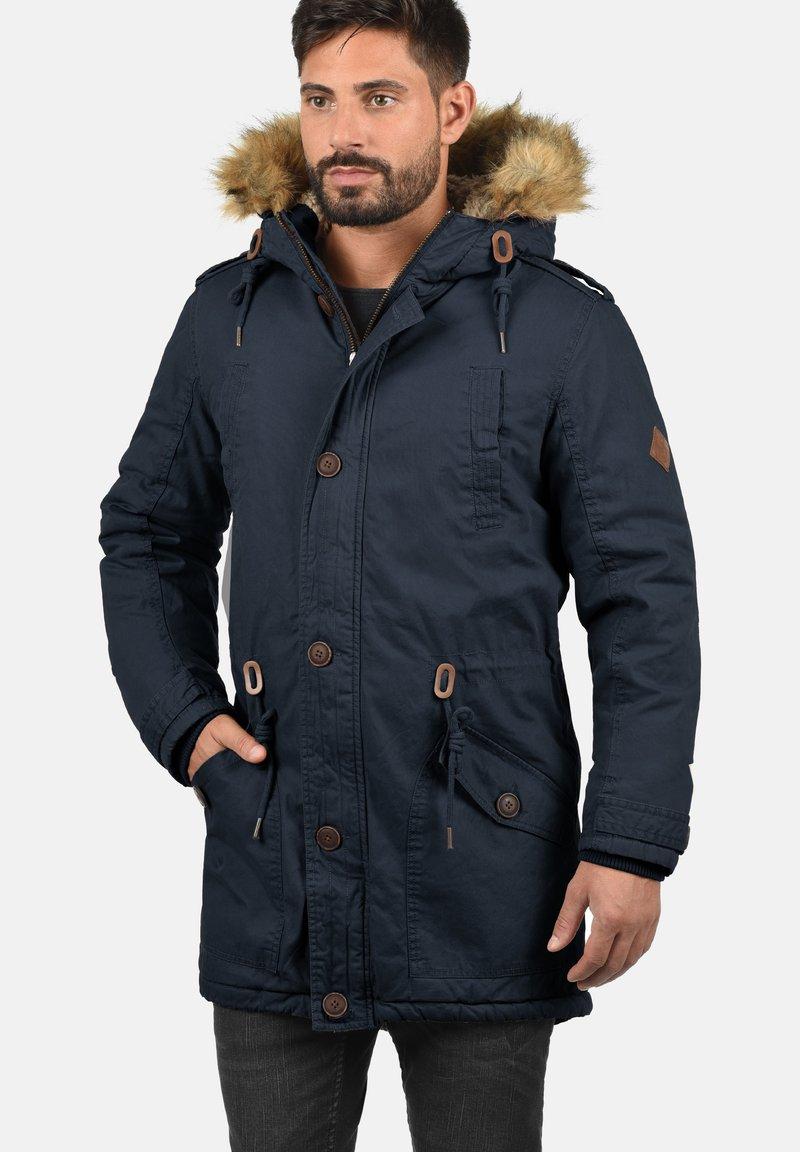Solid - WINTERJACKE CLARKI TEDDY - Winter coat - insignia b