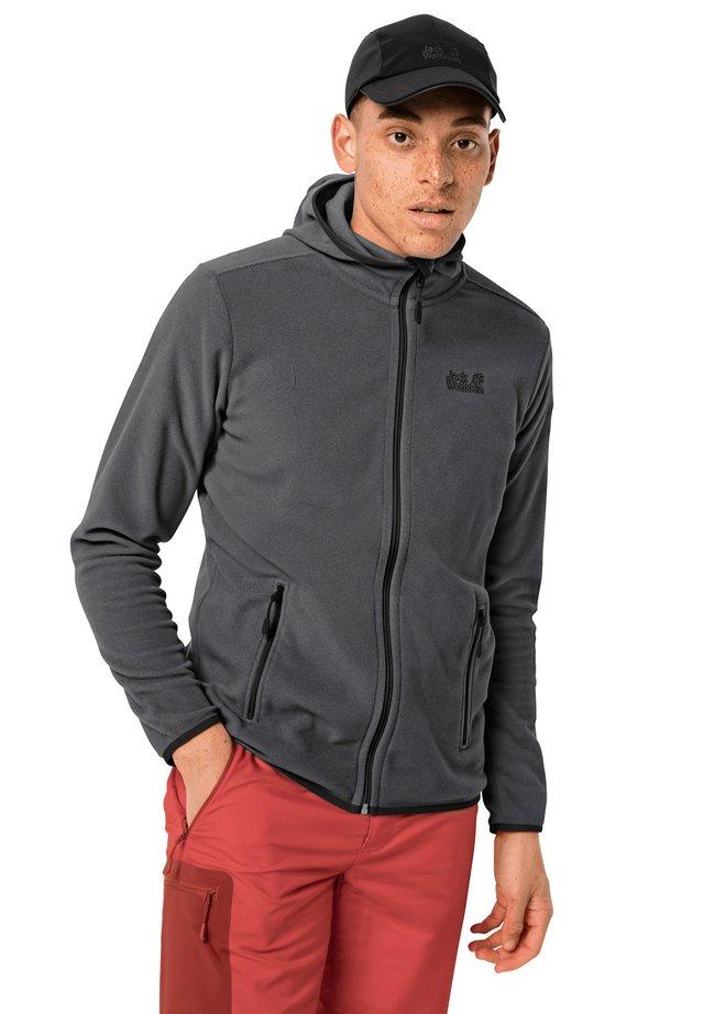 Fleece jacket - black stripes