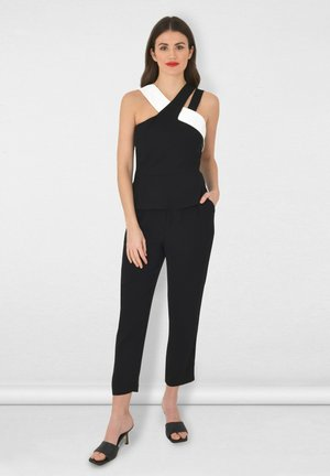 MONOCHROME PEPLUM - Blouse - black