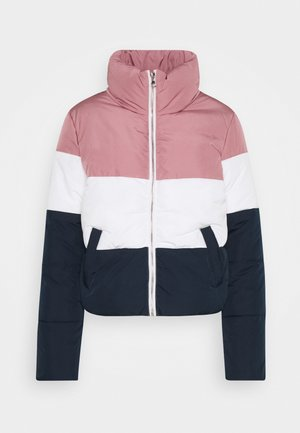 NEWERICA BLOCK SHORT PADDED JACK - Light jacket - nostalgia rose/cloud dancer/sky
