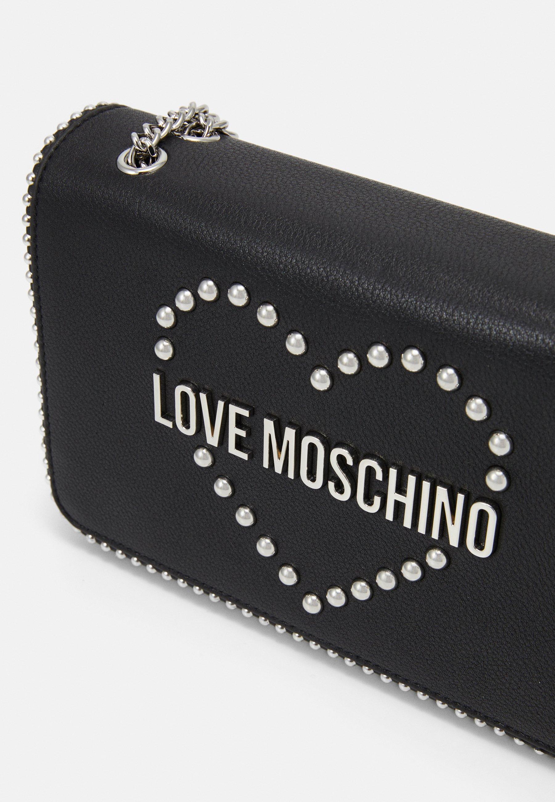 Love Moschino STUDS HEART - Skulderveske - black/svart nc7fZ10G4HwDOBt