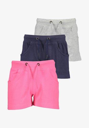 BASICS - Shorts - pink nachtblau nebel