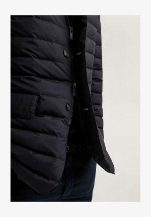 Winter jacket - blue-black denim