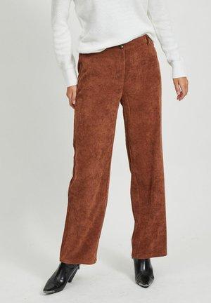 Pantalon classique - tobacco brown
