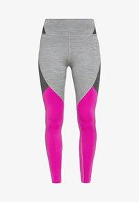 NOVELTY - Legging - iron grey/active fuchsia/black
