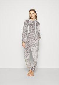 Hunkemöller - ONESIE HERRINGBONE - Pyjamas - warm grey melee - 1