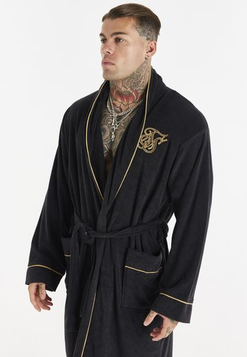 LOGO DRESSING GOWN - Dressing gown - black/gold-coloured