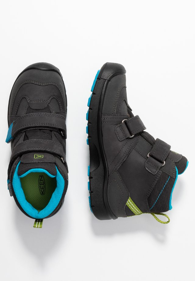 HIKEPORT MID STRAP WP - Hiking shoes - magnet/greenery