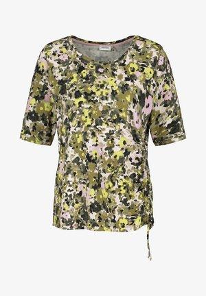 1/2 ARM - T-shirt imprimé - schilf olive druck
