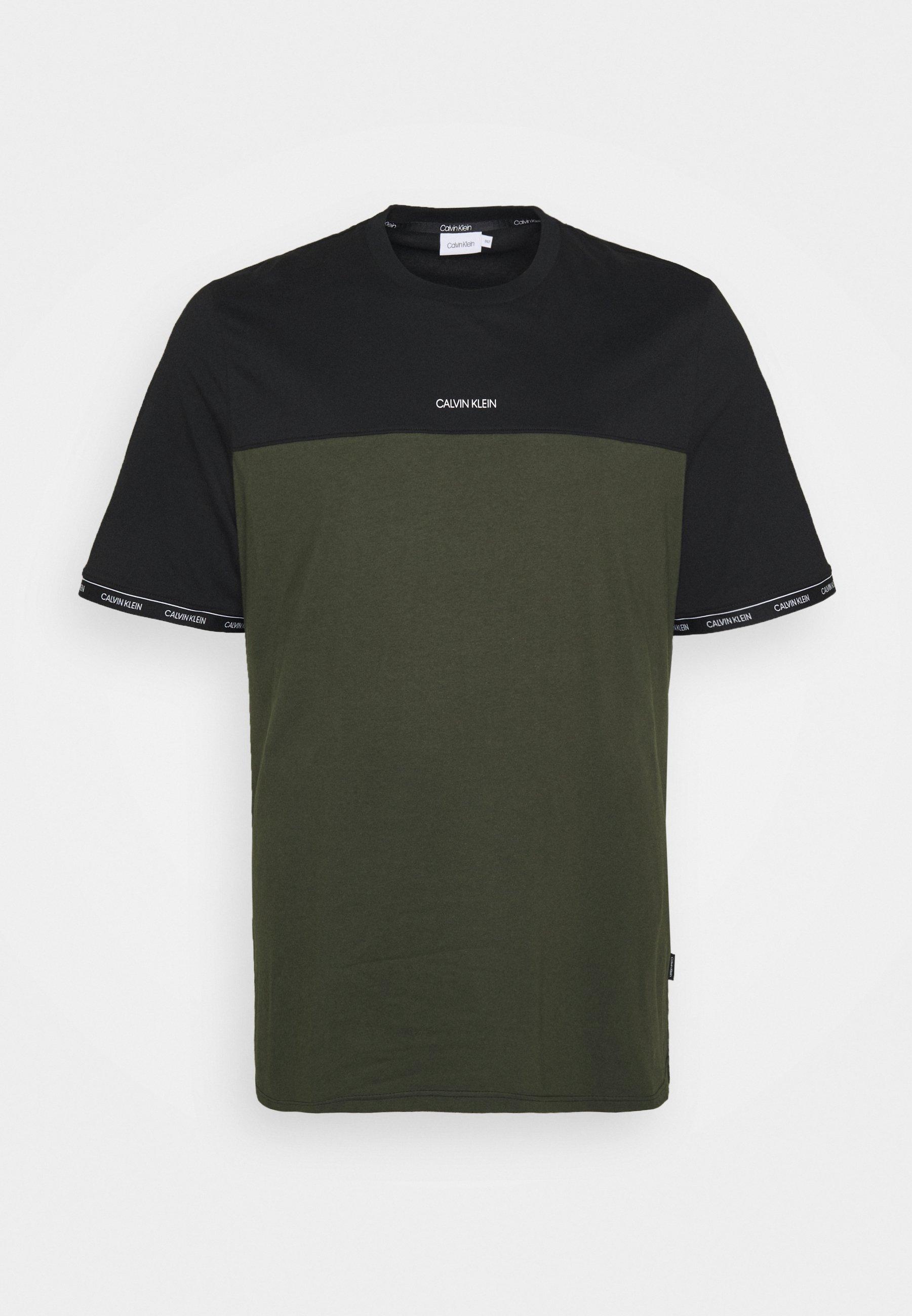 Men LOGO STRIPE CUFF - Print T-shirt