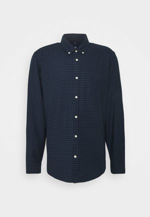 SLIM OXFORD - Skjorta - navy gingham