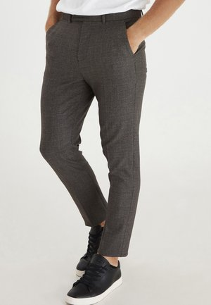 PATRIK 0016 SLIM PANTS SMALL CHECKED PANT - Trousers - bronze brown