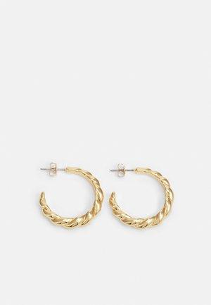 BRAIDED EARRING - Orecchini - shiny gold-coloured