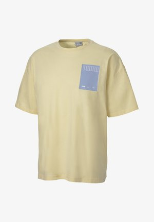 EVOLUTION GRAPHIC MEN'S TEE MALE - T-shirt imprimé - french vanilla