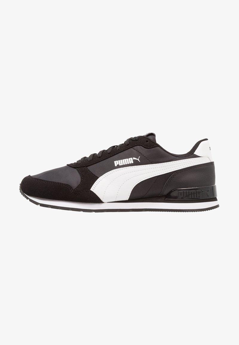 Puma - RUNNER UNISEX - Matalavartiset tennarit - black/white