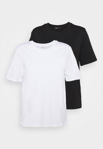 ONLONLY LIFE NOOS 2 PACK - Basic T-shirt - black/white