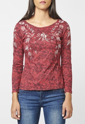 Camiseta de manga larga - rojo