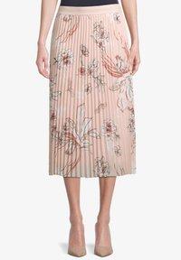 Betty Barclay - MIT BLUMENPRINT - Pleated skirt - rose/cream - 0