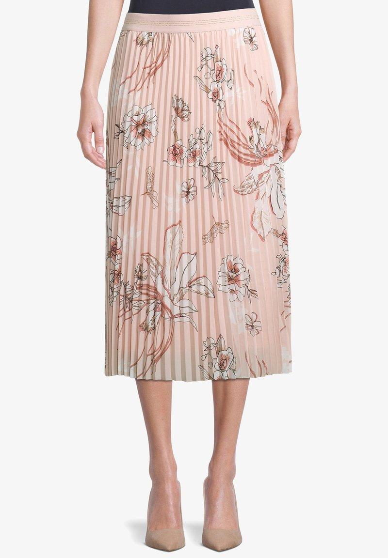 Betty Barclay - MIT BLUMENPRINT - Pleated skirt - rose/cream